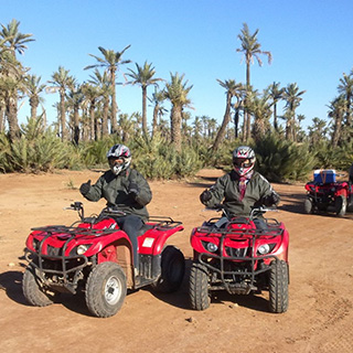 EXCURSION QUAD & DROMADAIRE & CASCADES.